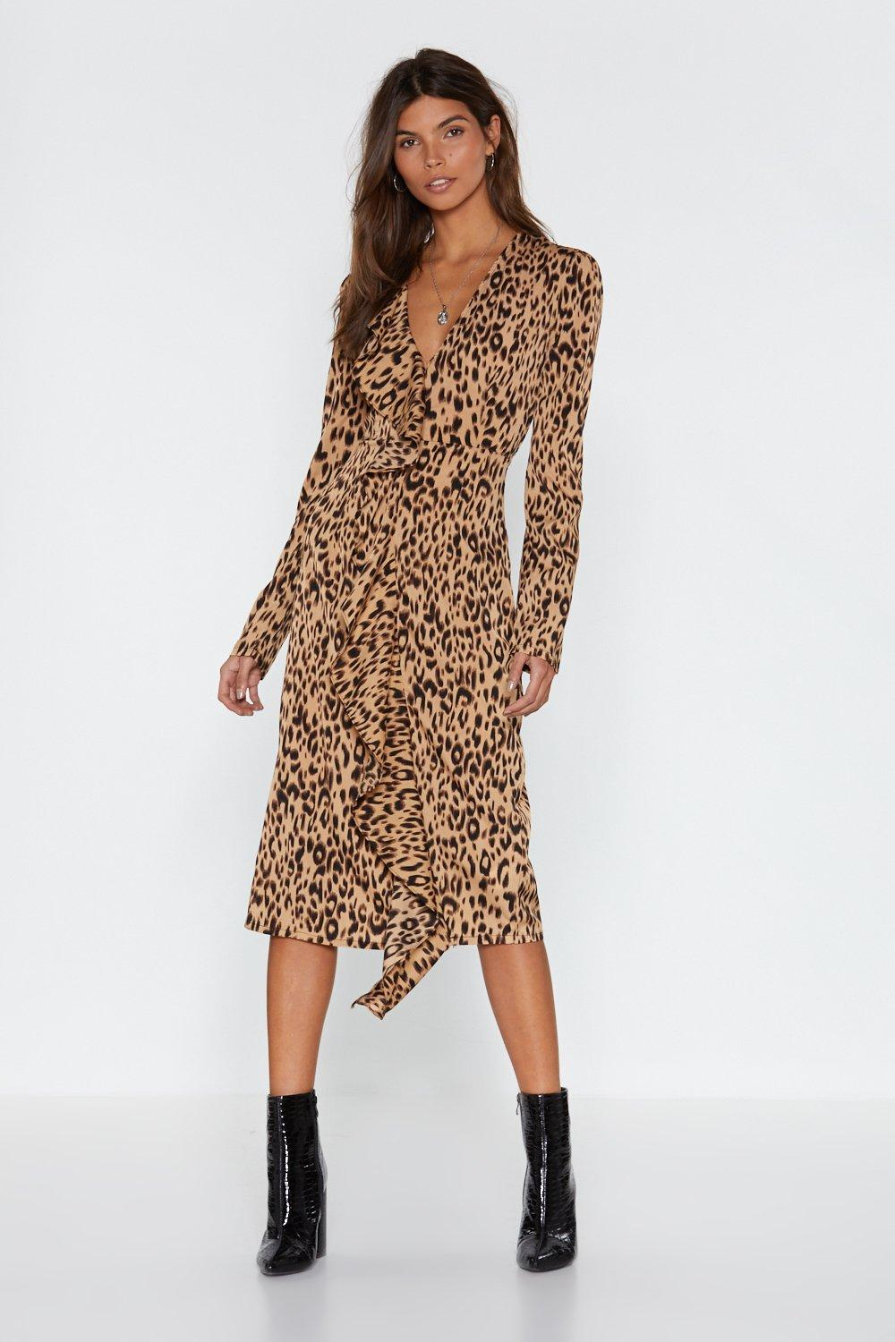 3c8cf26c87a7 Leopard Meow-ment Ruffle Midi Dress | Shop Clothes at Nasty Gal!