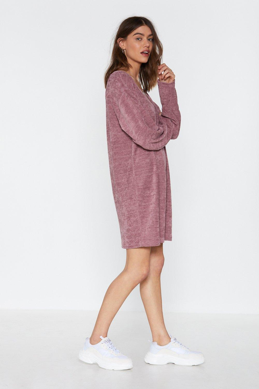 b50e13b3c57 Womens Mink See How You Chenille Sweater Dress