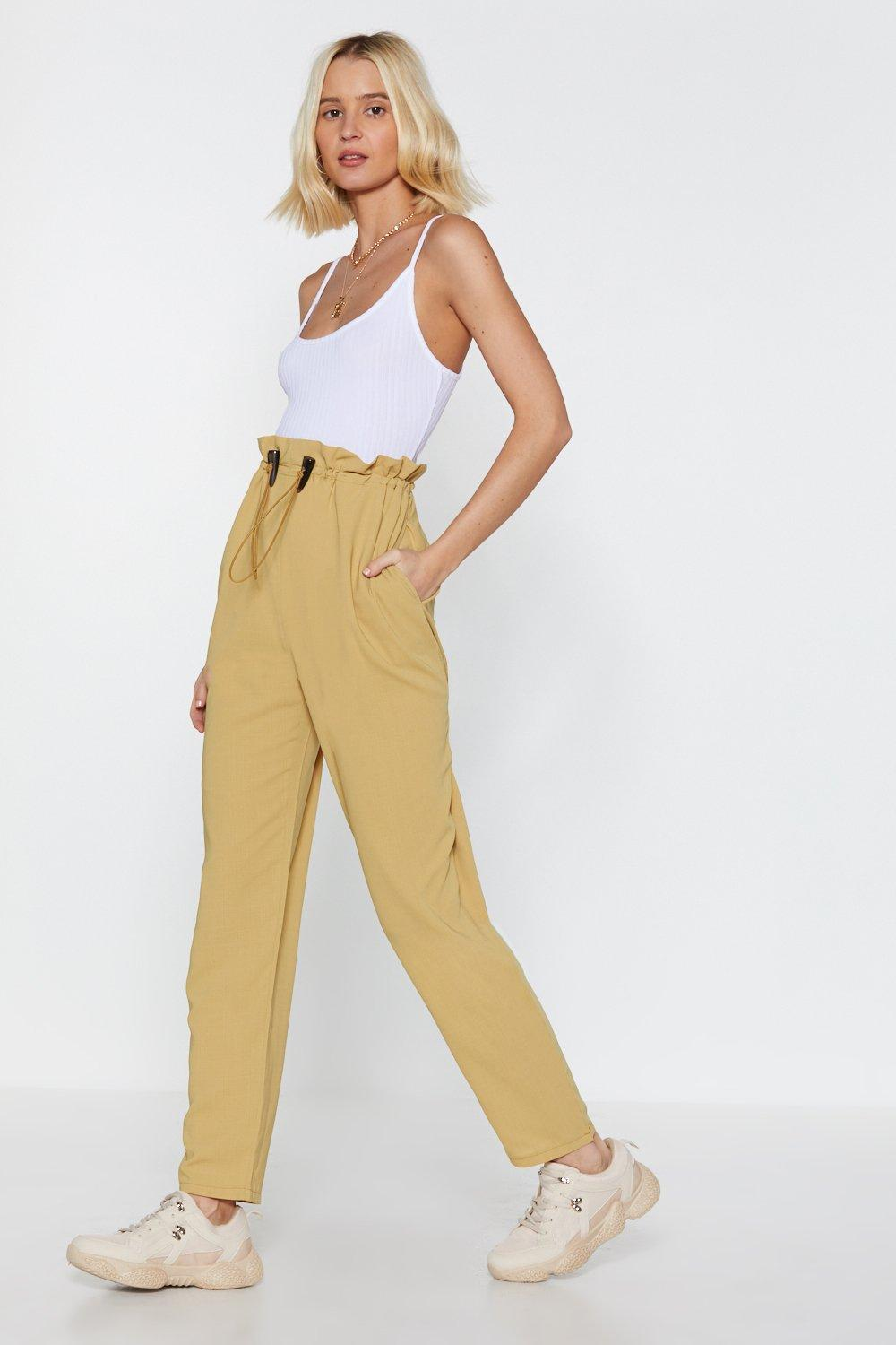 4908cb3cc5786 Pull of Love Paperbag Tapered Pants | Shop Clothes at Nasty Gal!