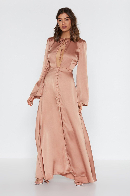 0ee6dae79 Good Goddess Satin Maxi Dress | Shop Clothes at Nasty Gal!