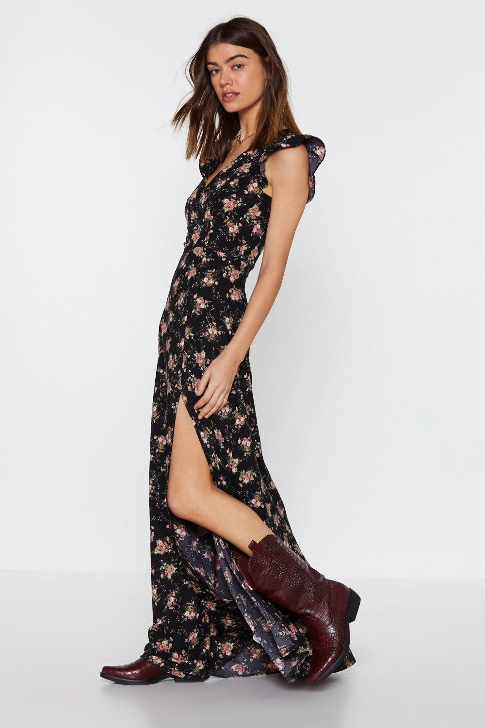 dd067bcdca52 Flower Down on Me Maxi Dress | Shop Clothes at Nasty Gal!