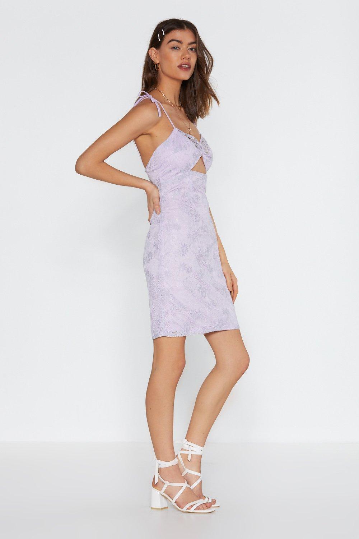 b181eb0d936 Where Did You Lace Cut-Out Mini Dress