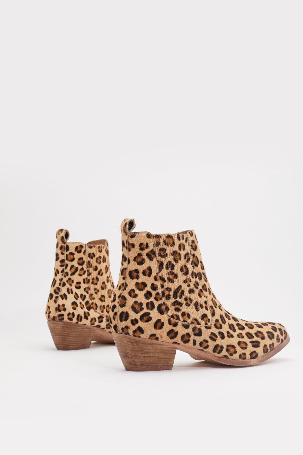 53040089b47d Leopard Pony Skin Chelsea Western Boot | Shop Clothes at Nasty Gal!