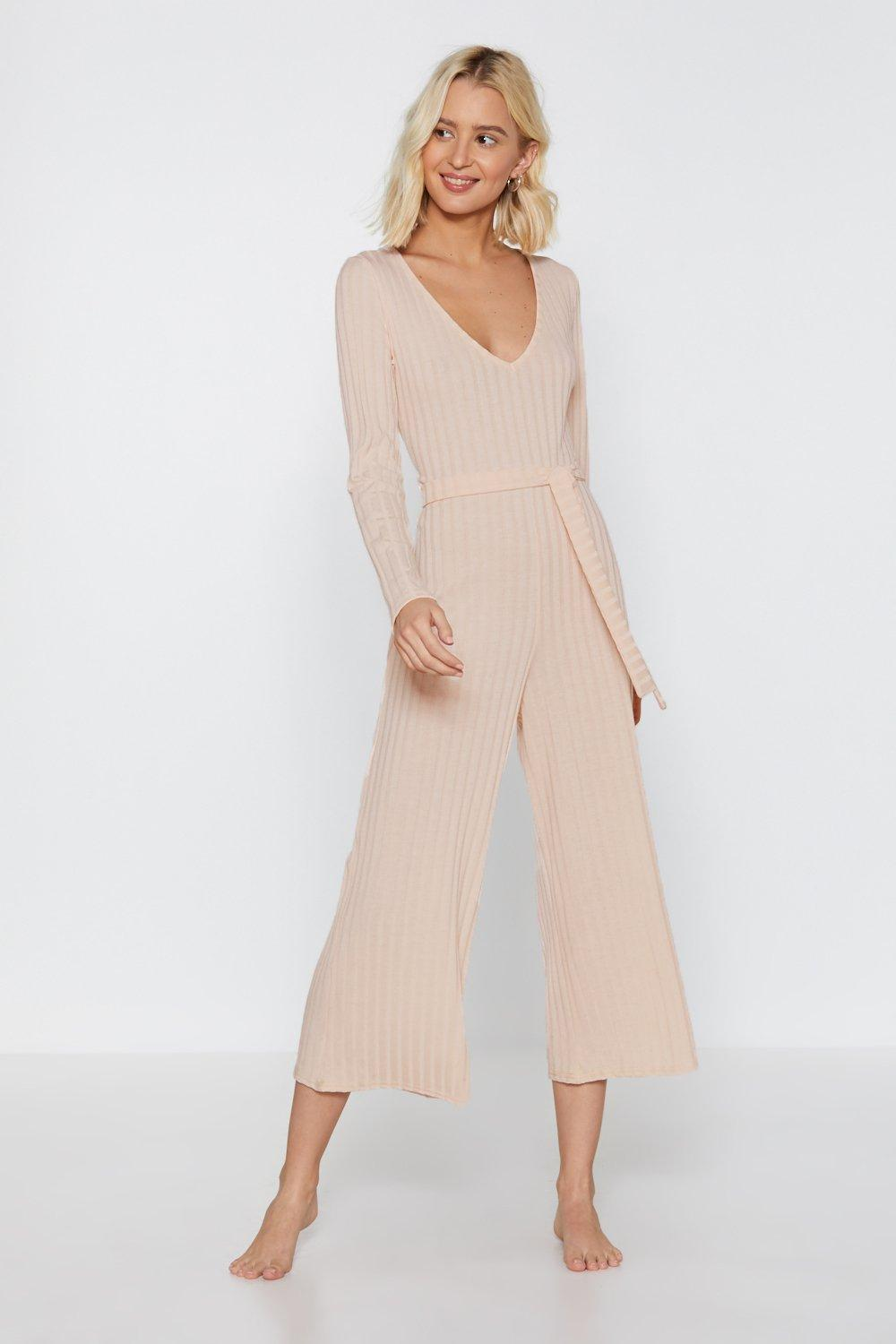eb5de1a82490 Just Busy RN Ribbed Lounge Jumpsuit
