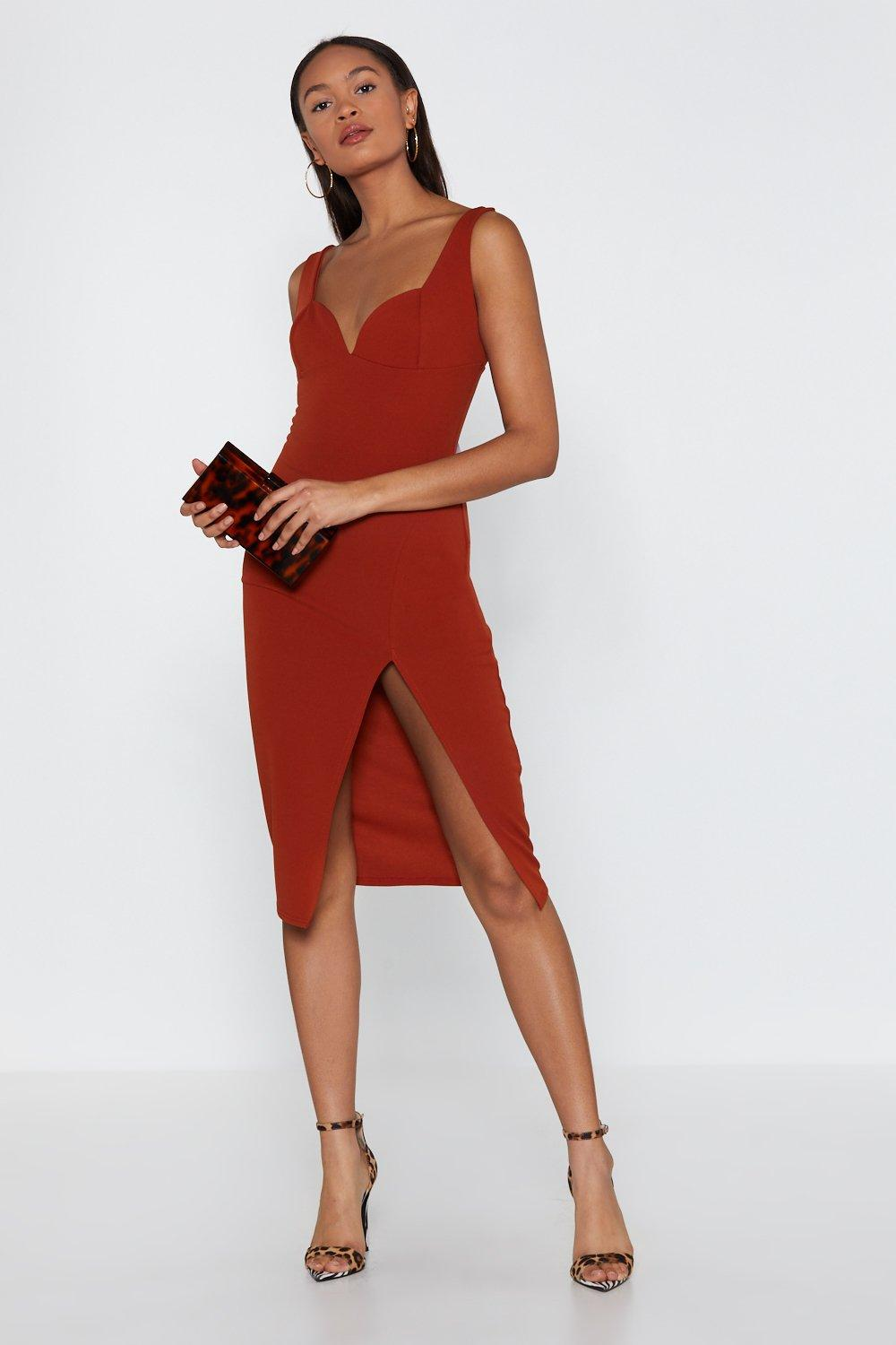 632e7565b7f4 Plunge Down Midi Dress | Shop Clothes at Nasty Gal!