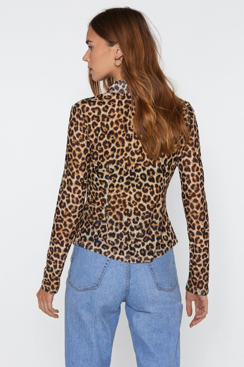 15adf3eb Mesh One Around Tailored Leopard Shirt | Shop Clothes at Nasty Gal!