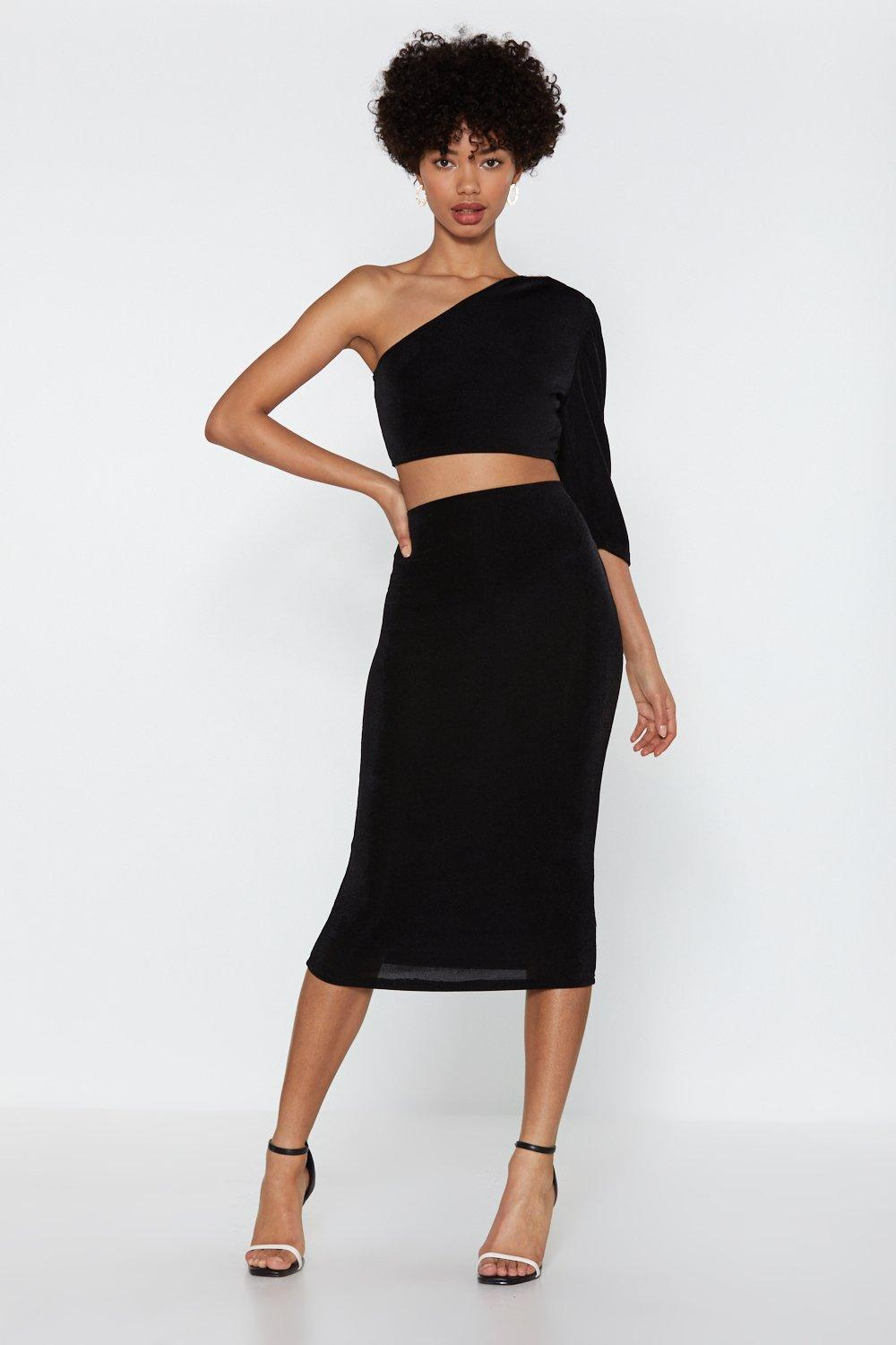 311f86d89533a1 Team Up One Shoulder Crop Top and Skirt Set | Shop Clothes at Nasty Gal!
