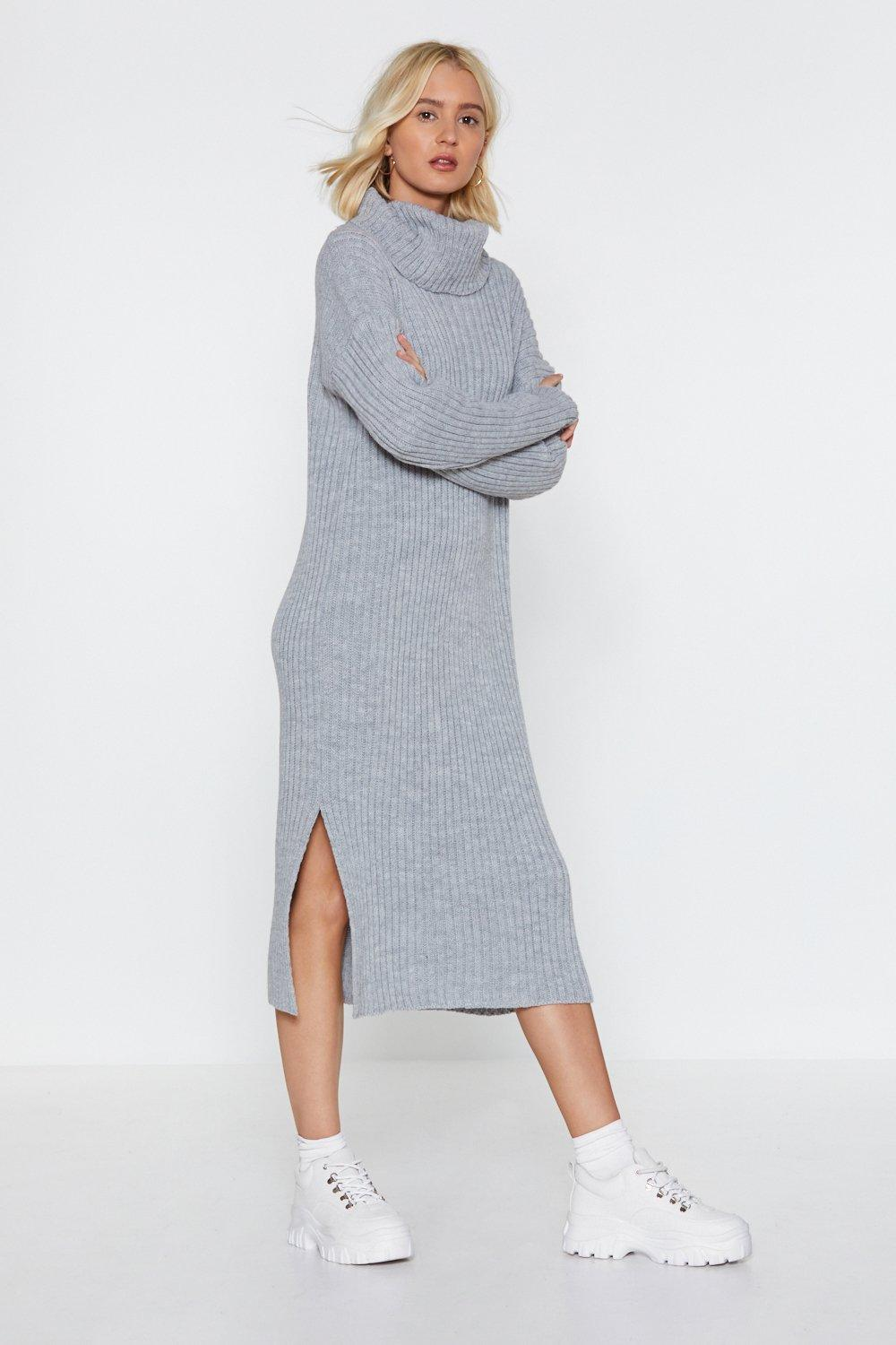 1dc037cf36f Let s Get Things Rolling Turtleneck Sweater Dress