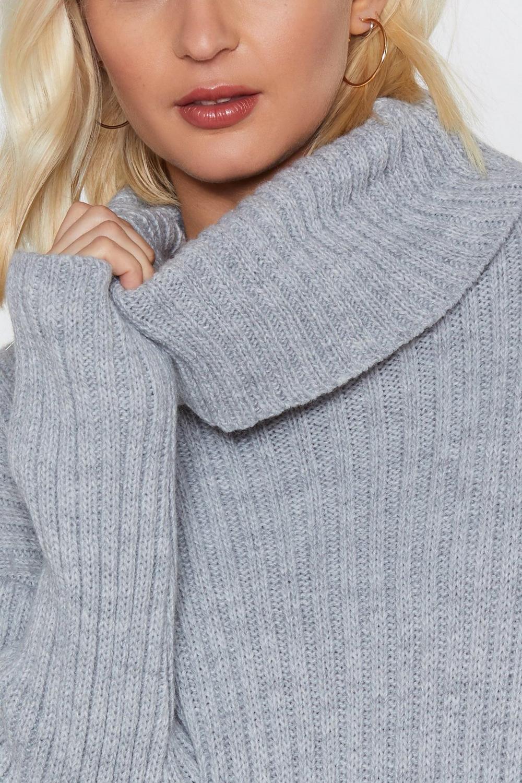 d1ca1afa067 Womens Grey marl Let s Get Things Rolling Turtleneck Sweater Dress.