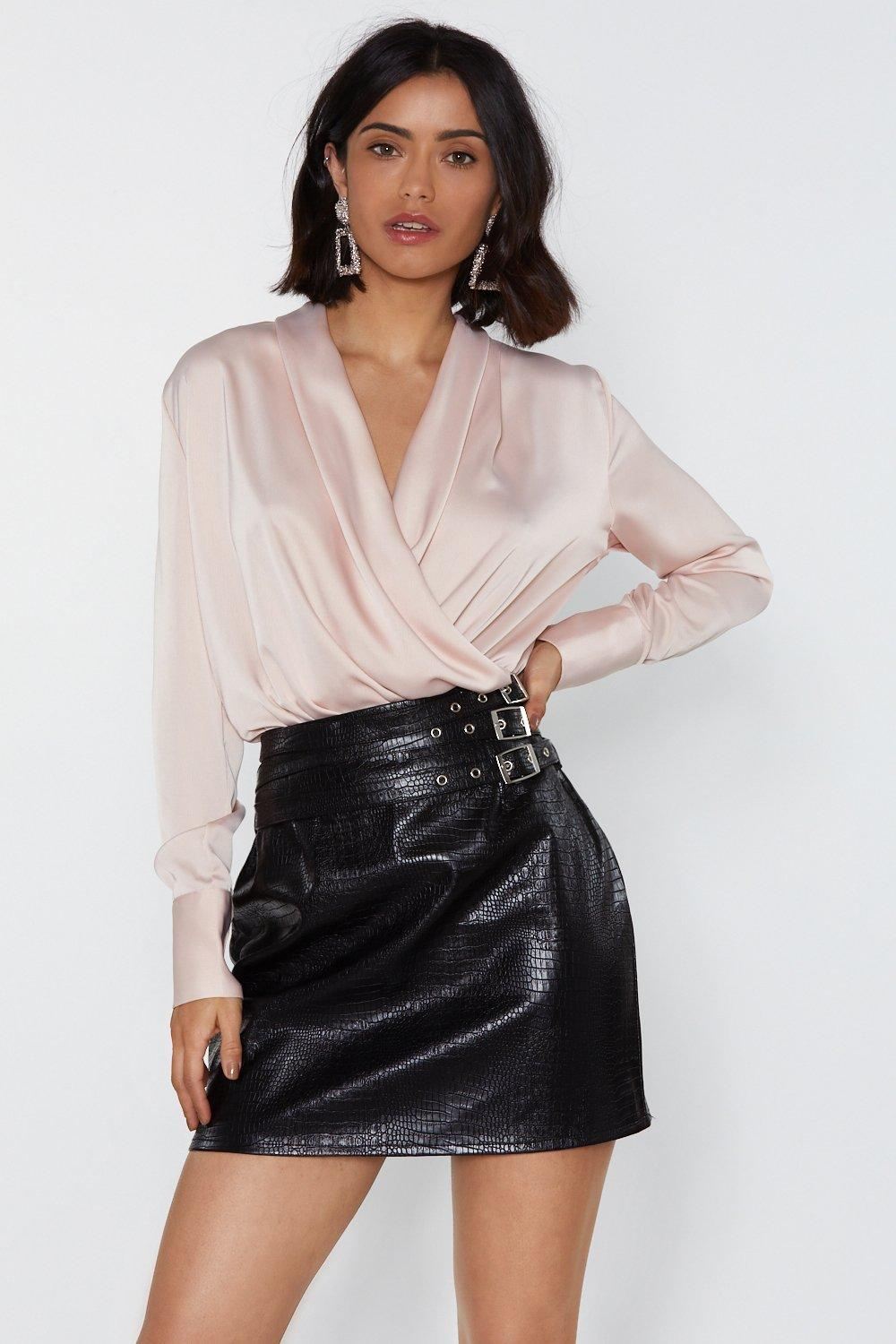 77cbcb552bf Drape Two Plunging Satin Blouse   Shop Clothes at Nasty Gal!