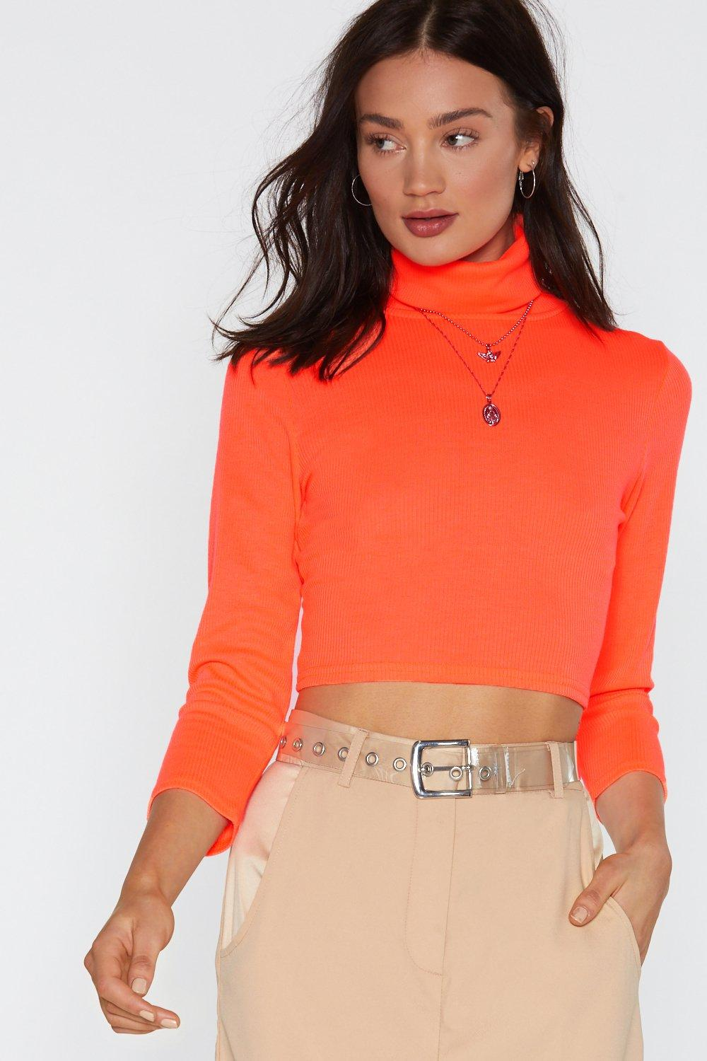 a1ffbefd0 Neon the Tequila Turtleneck Crop Top | Shop Clothes at Nasty Gal!