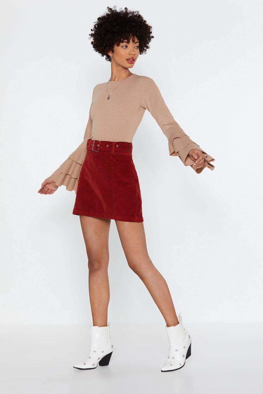 84cb4cc27c Brush It Off Corduroy Mini Skirt