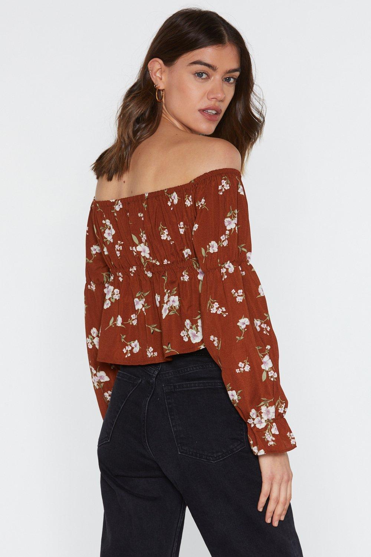c7ba22b95326cb Floral Shirred Bardot Top | Shop Clothes at Nasty Gal!