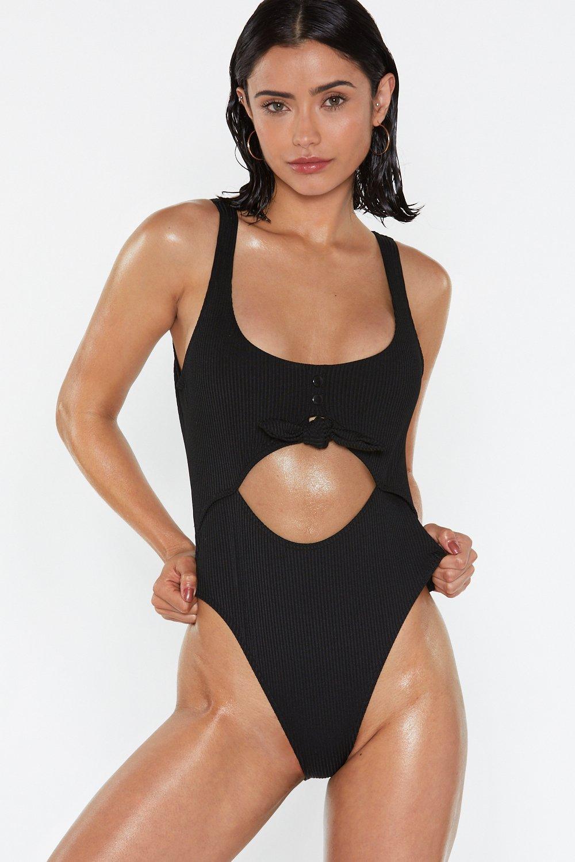 18dec1714d Open Bar Cut-Out High-Leg Swimsuit | Shop Clothes at Nasty Gal!