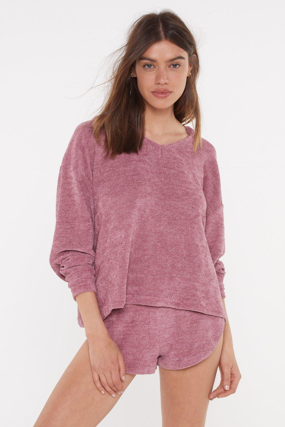 137dc15b8b8 Womens Mink Chenille Me Out Lounge Hoodie