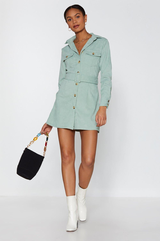 97c45c280f Womens Sage Shirt Attention Span Corduroy Shirt Dress