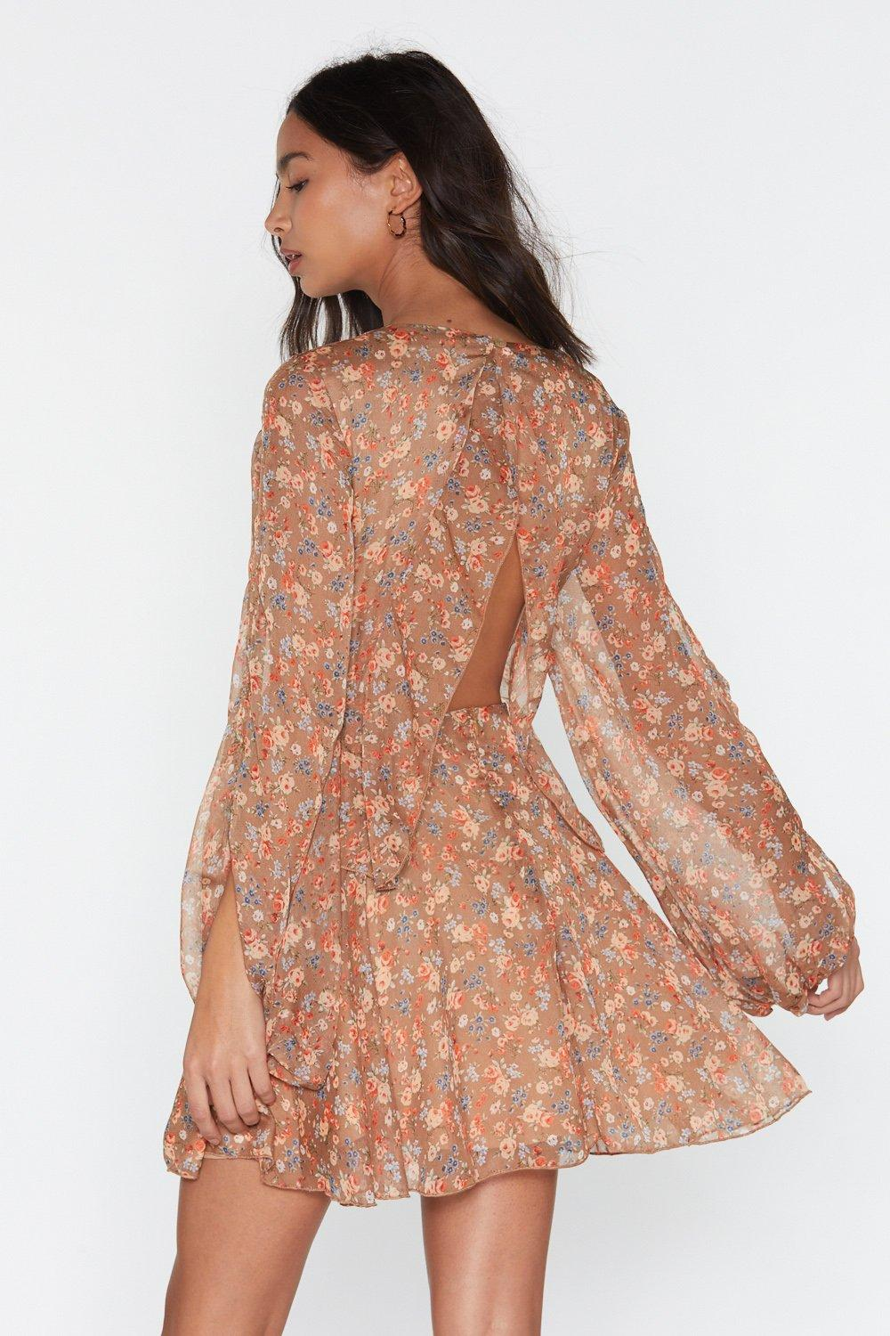 2745a632917a1 Swing to the Music Floral Mini Dress   Shop Clothes at Nasty Gal!