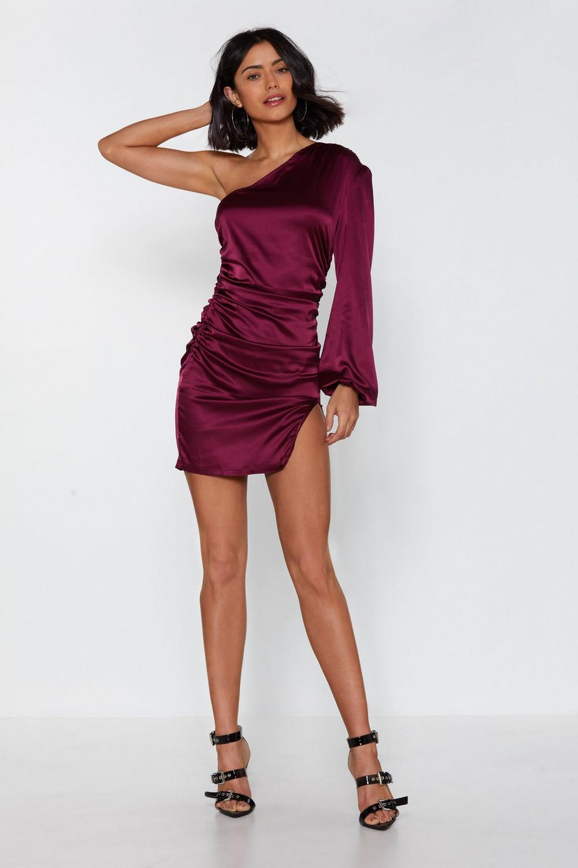 adc11e32f0a Feelin' So Good One Shoulder Satin Dress | Shop Clothes at Nasty Gal!