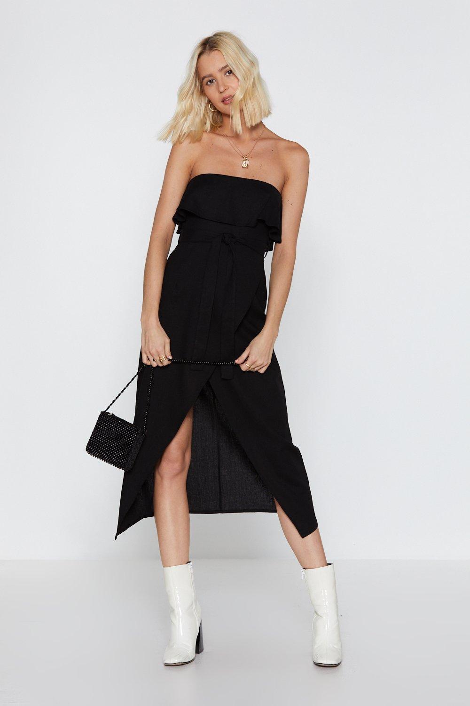 8d7cc77b6836 Oh Give Off-the-Shoulder Ruffle Midi Dress