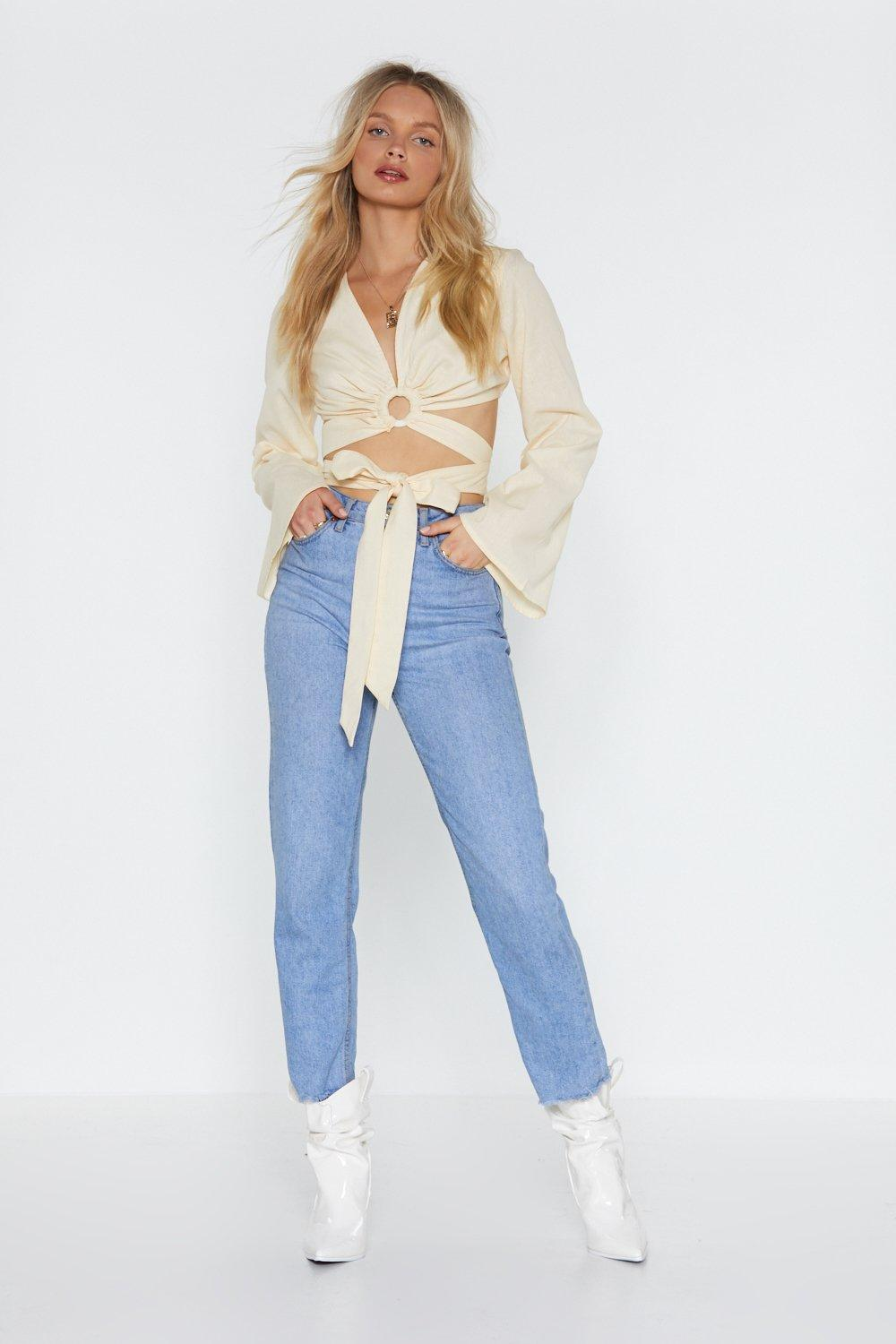 bc6dee03bc683b Hoop in Flare Sleeve Crop Top | Shop Clothes at Nasty Gal!