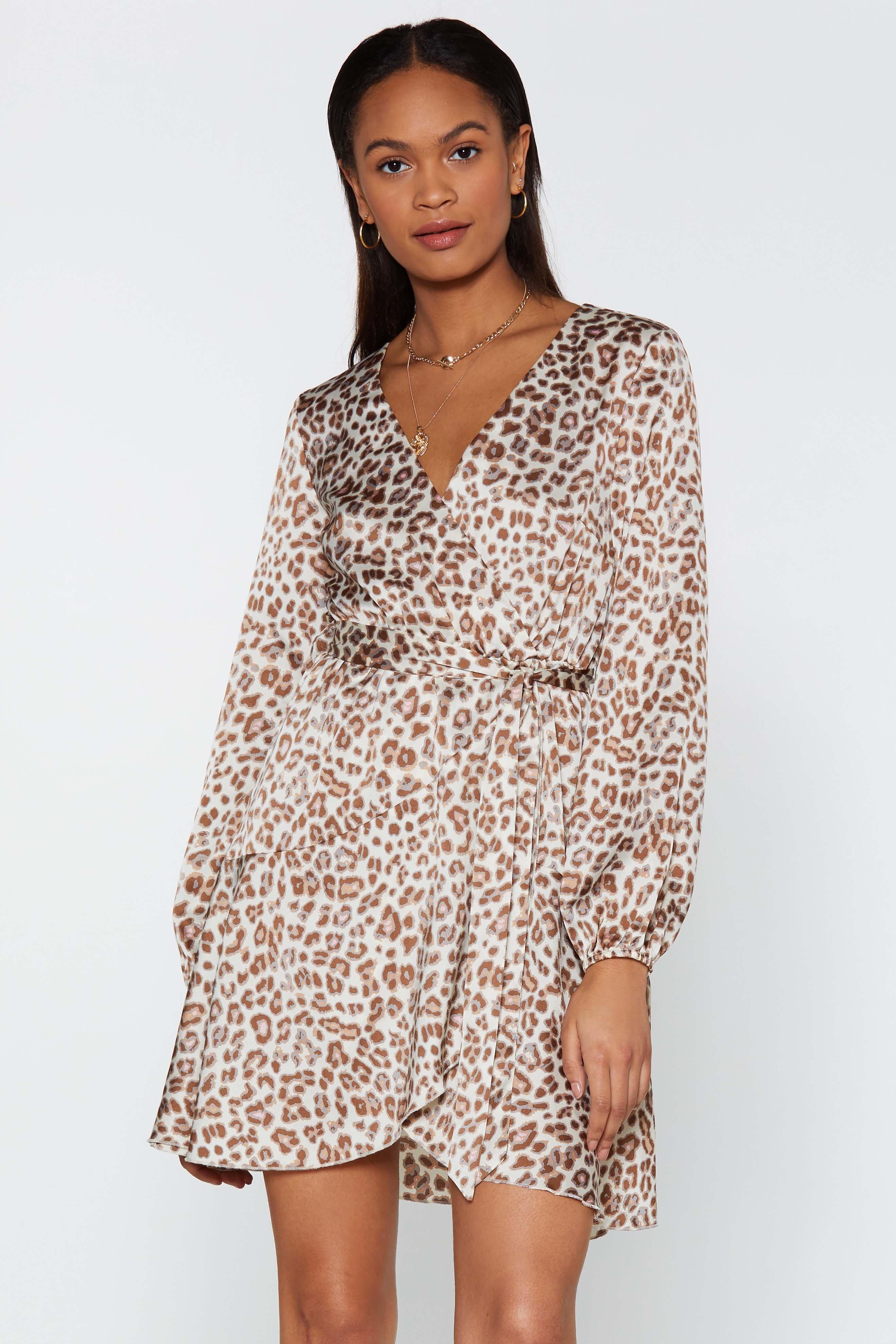 Tattle Tail Leopard Dress by Nasty Gal