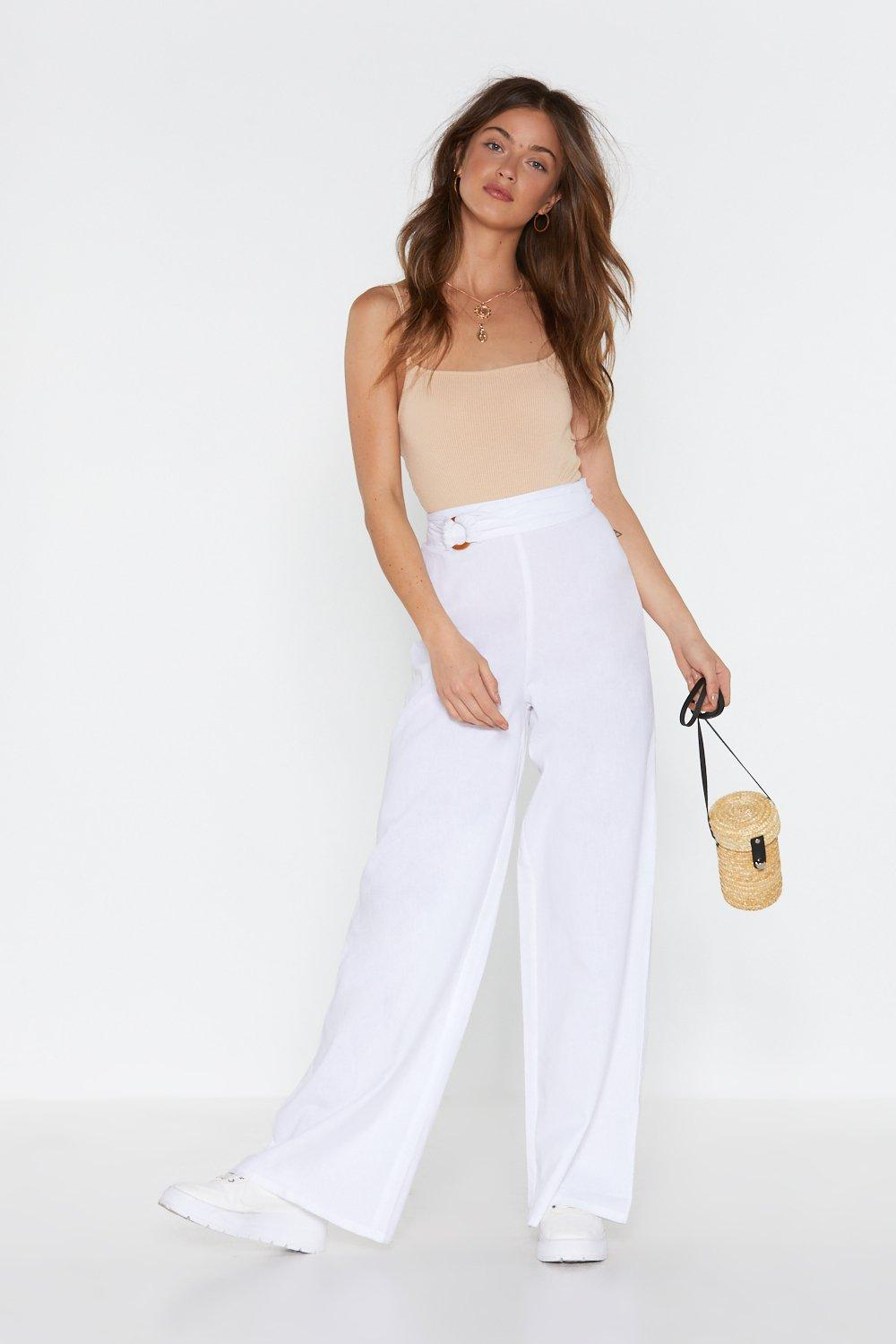 fadf1ad34d9e Linen in Doubt Wide-Leg Pants | Shop Clothes at Nasty Gal!