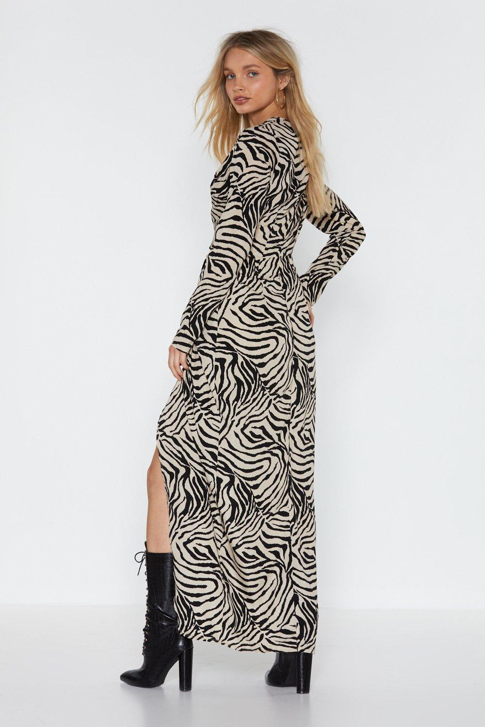 4acdfdad4d2 Don t Get It Twisted Zebra Maxi Dress