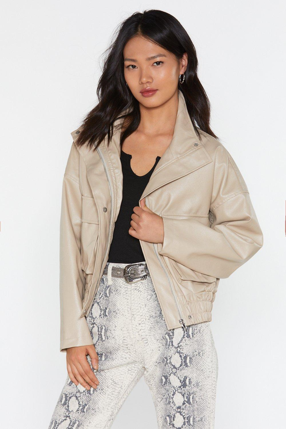 bb3771d532 Pocketful of Sunshine Faux Leather Jacket | Shop Clothes at Nasty Gal!