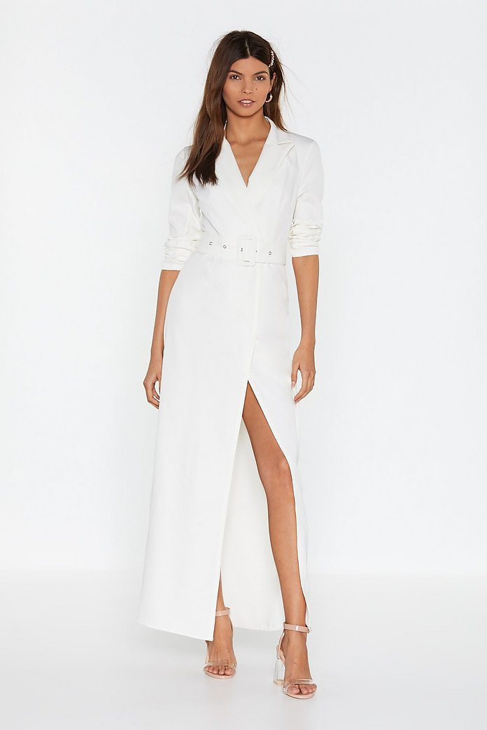 Well Suited Wrap Blazer Dress | Nasty Gal