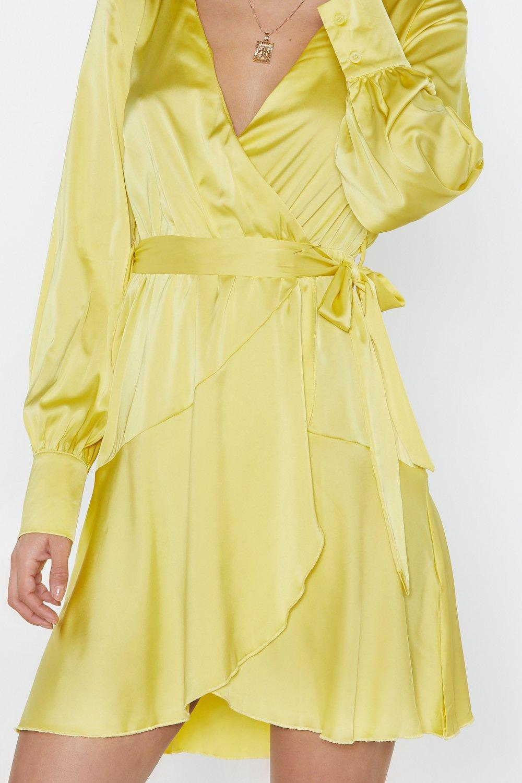11eca03ed7a867 What s Satin-in  Tonight Wrap Mini Dress