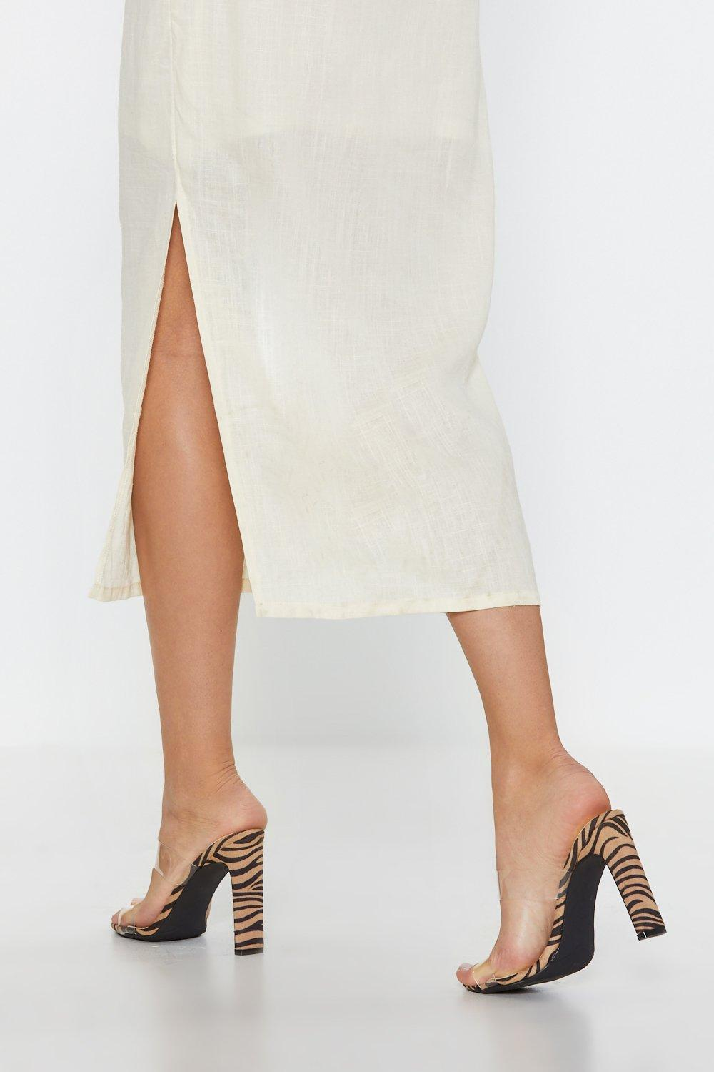 fc10a3155f Lay It on the Linen One Shoulder Dress