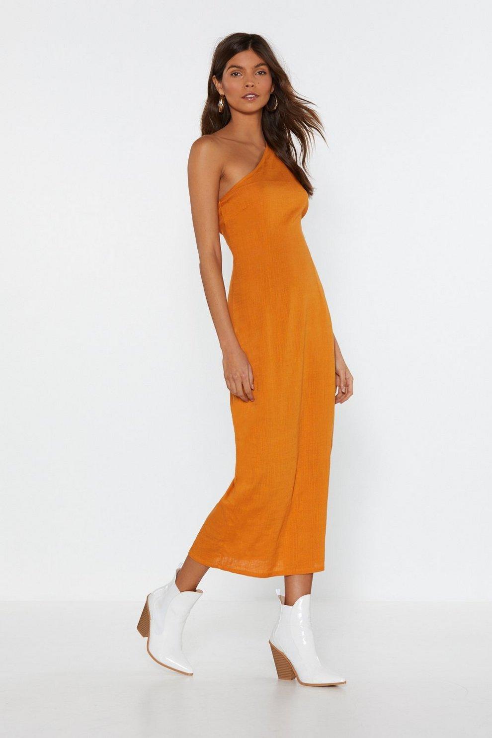122c817fdec84 You re My Number One Shoulder Midi Dress
