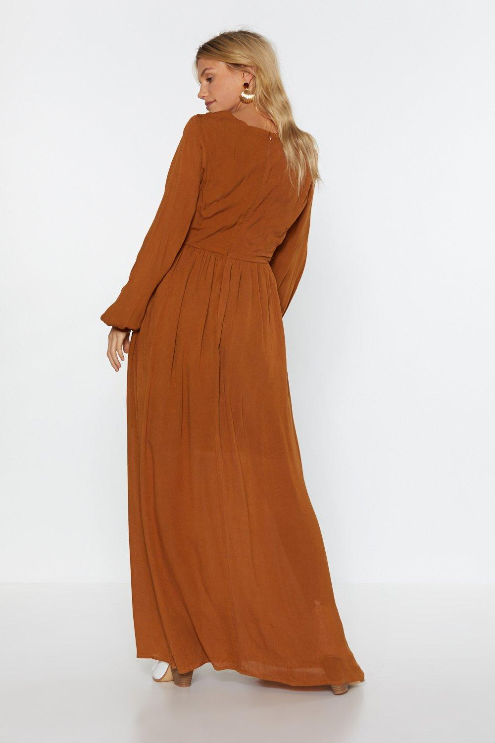 9bf5e58f4fc Womens Turmeric Sweep Me Off My Feet Button-Down Maxi Dress