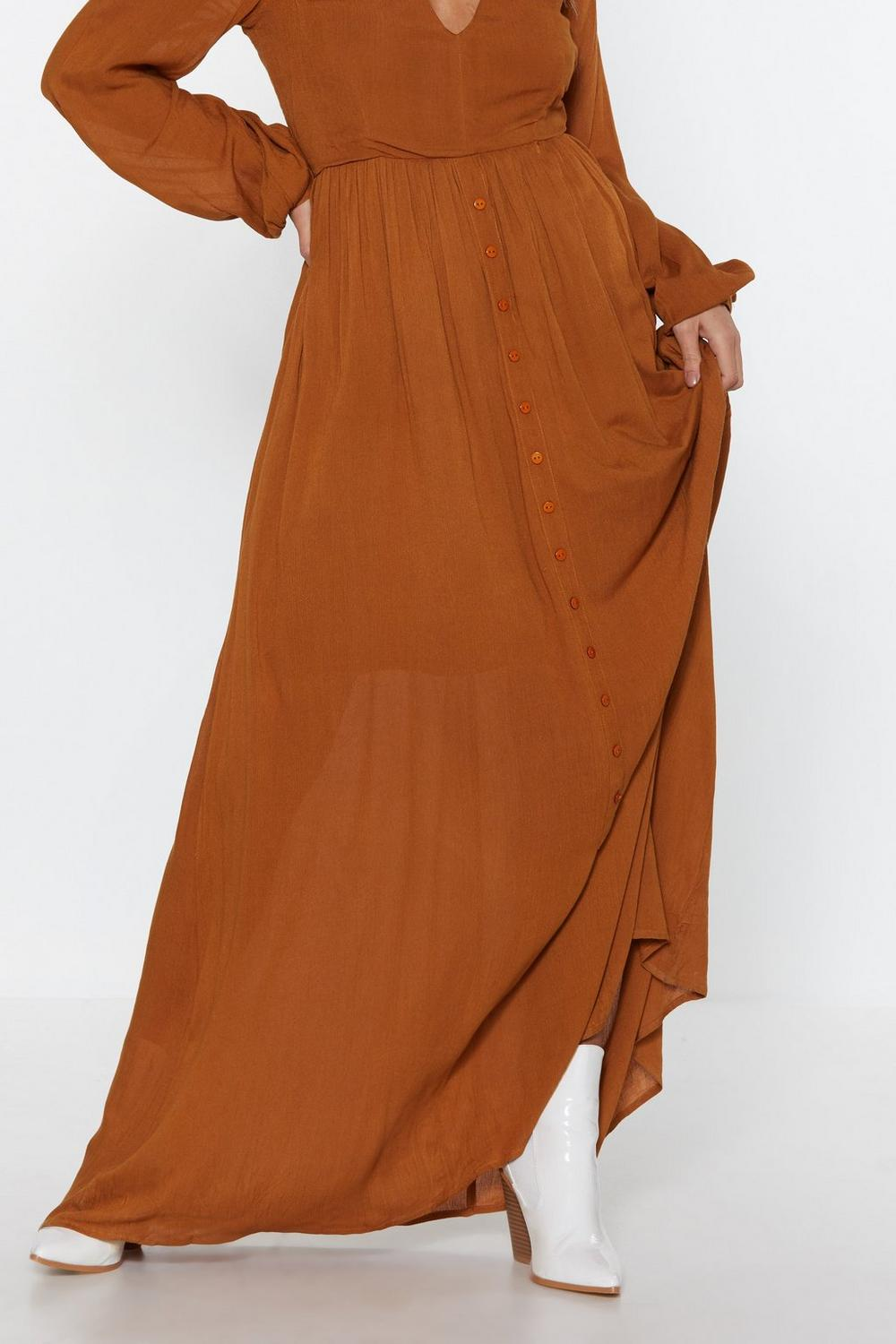 52010098dfa Womens Turmeric Sweep Me Off My Feet Button-Down Maxi Dress.