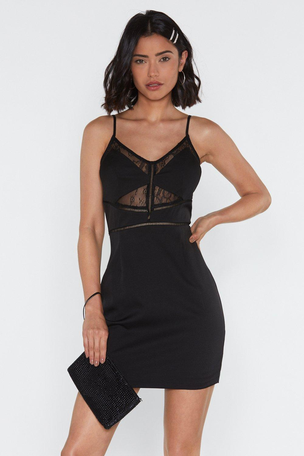 1e6b5f669db9 Sooner Rather Than Ladder Lace Bodycon Dress