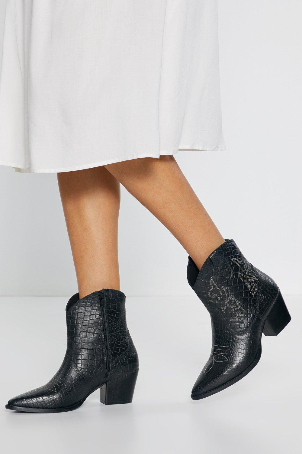 88609651c25 Ride Out the Leather Embroidered Cowboy Boots | Shop Clothes at Nasty Gal!
