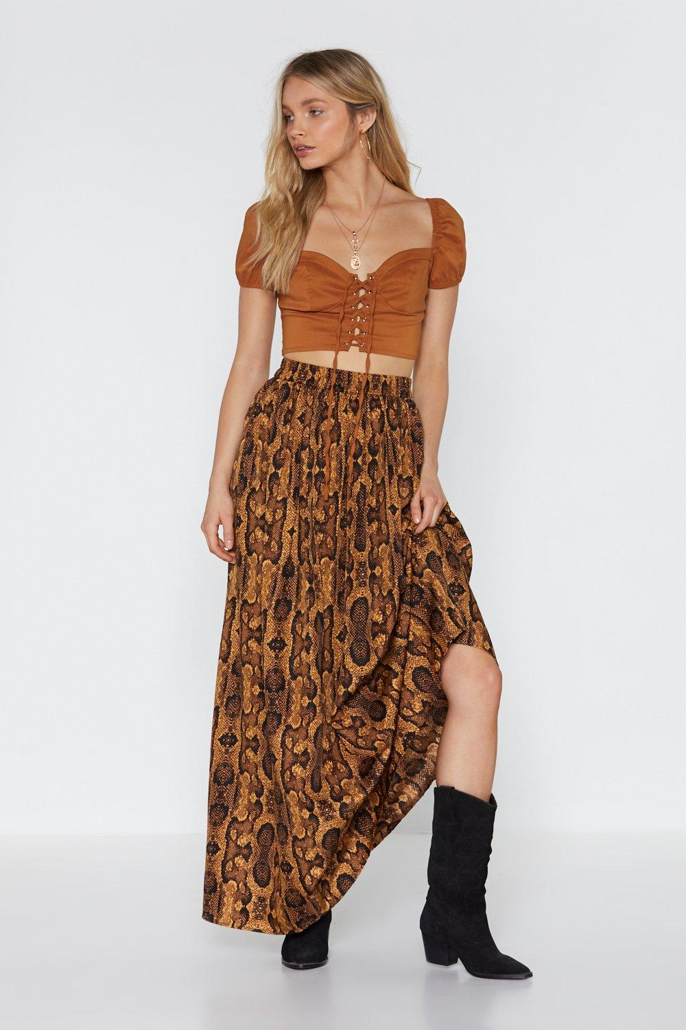 dc3340491a393 Snake It Extra High-Waisted Maxi Skirt | Shop Clothes at Nasty Gal!