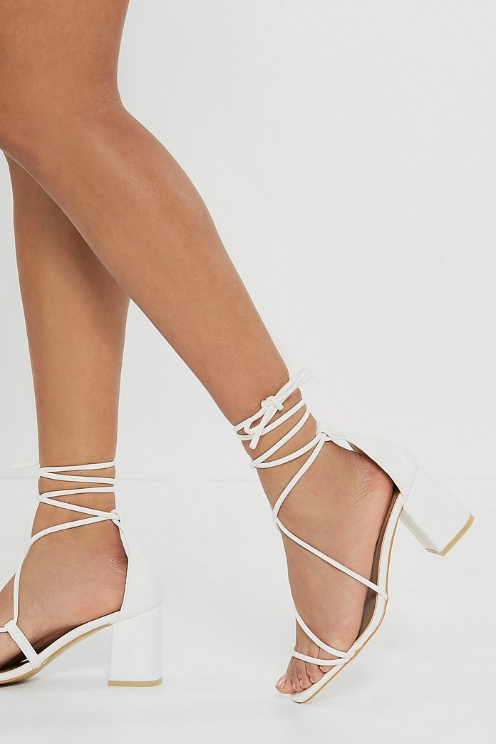 Open Minded Strappy Tie Sandals | Nasty Gal