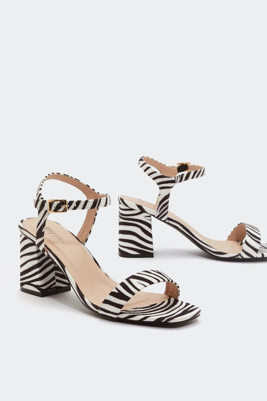 baca1ab78 Womens White Hunt  Em Down Zebra Heels