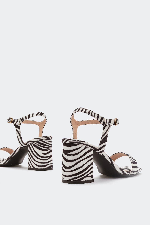 2610d7c8d26b Womens White Hunt  Em Down Zebra Heels