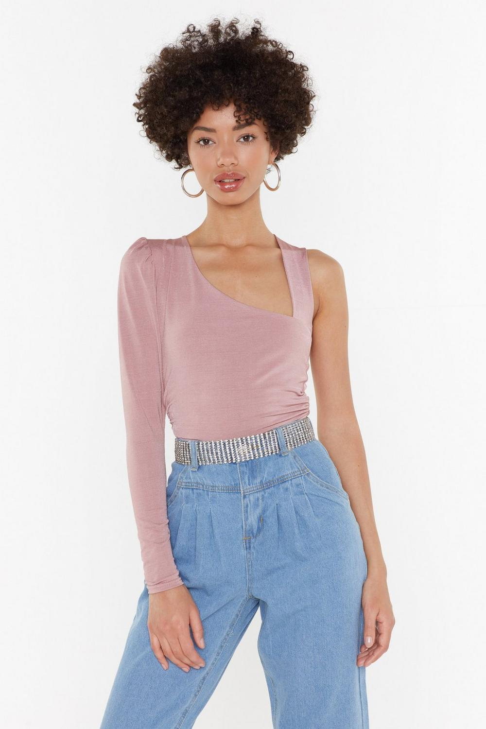 b0fd1278124 You're One of a Kind One Shoulder Ribbed Top | Shop Clothes at Nasty ...