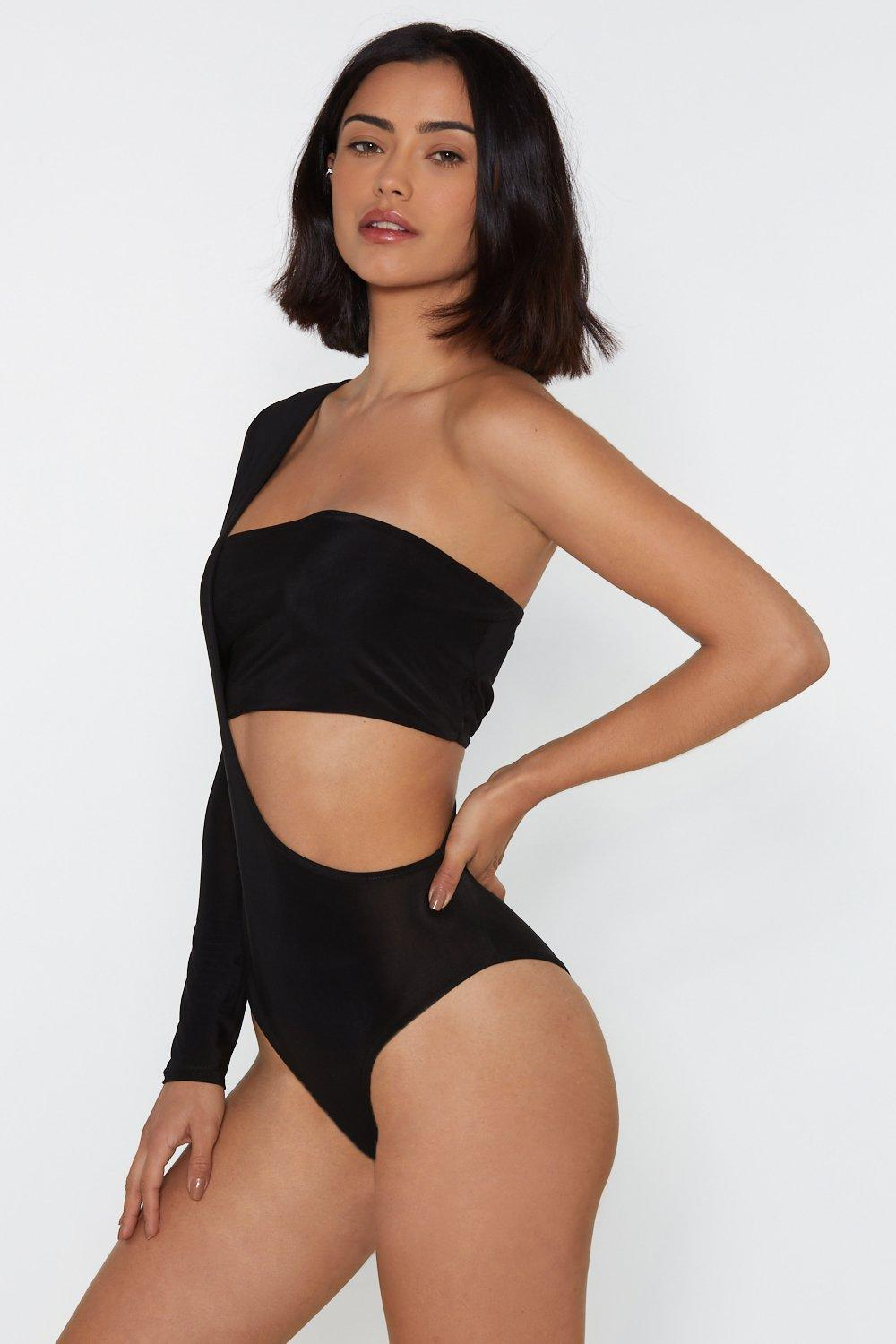 4372887e8fc3 Cut-Out of Excuses One Shoulder Bodysuit   Shop Clothes at Nasty Gal!