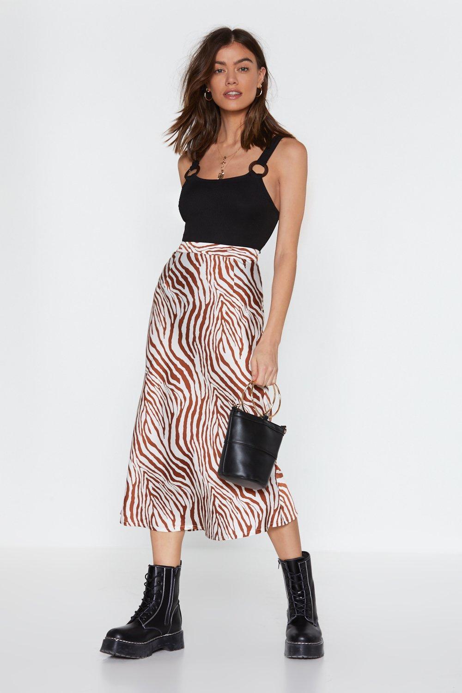 59000b648005 Have You Herd Zebra Satin Skirt   Shop Clothes at Nasty Gal!