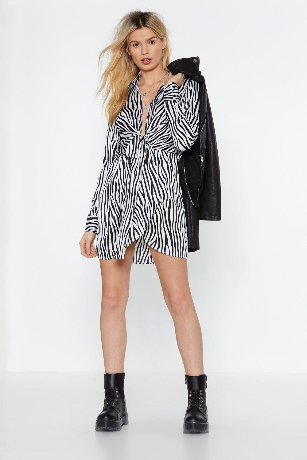fc709f8c54a36 Our Stripe of Girl Zebra Dress | Shop Clothes at Nasty Gal!