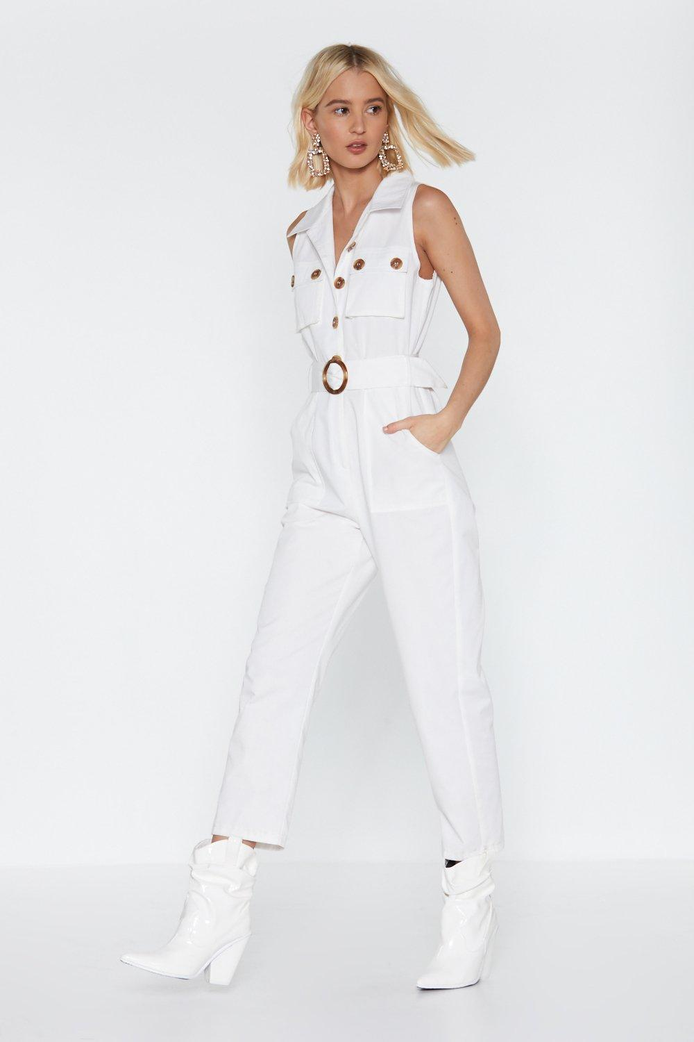 961745854 One Piece is All It Takes Belted Buttoned Jumpsuit | Shop Clothes at ...