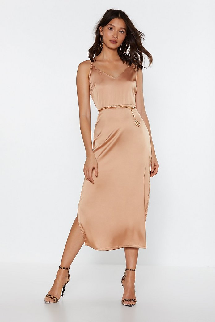 Smooth Sailing Satin Dress | Nasty Gal