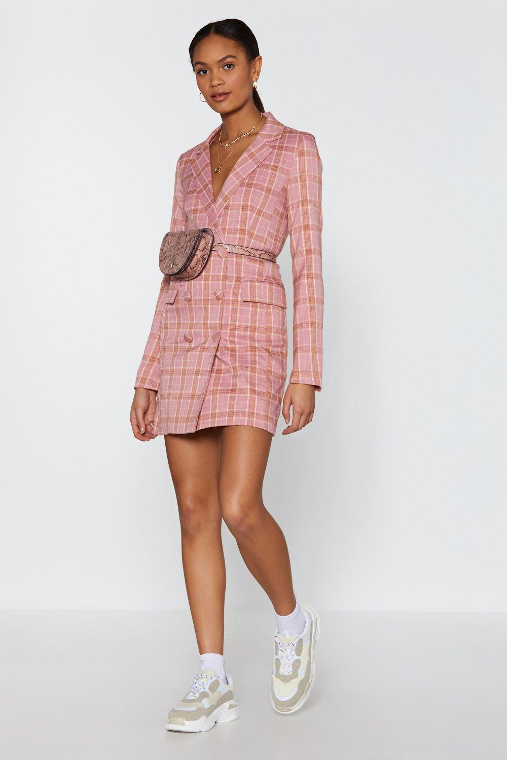 71dd871e7b126 Plaid Times Blazer Dress | Shop Clothes at Nasty Gal!