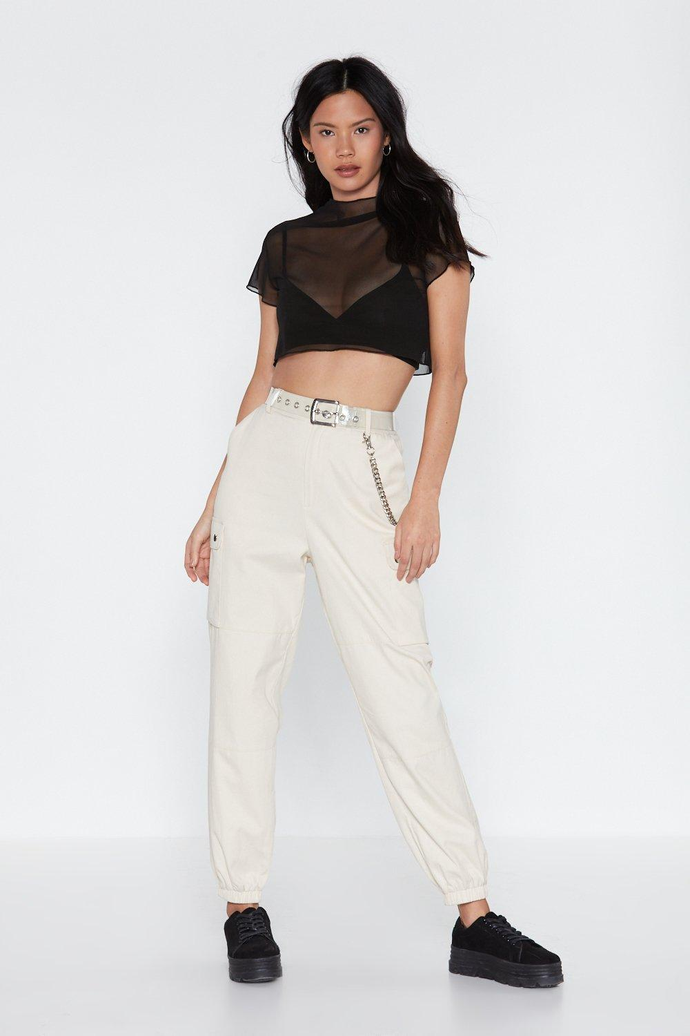 1f239d49c9733 Glad to Sheer It Mesh Crop Top