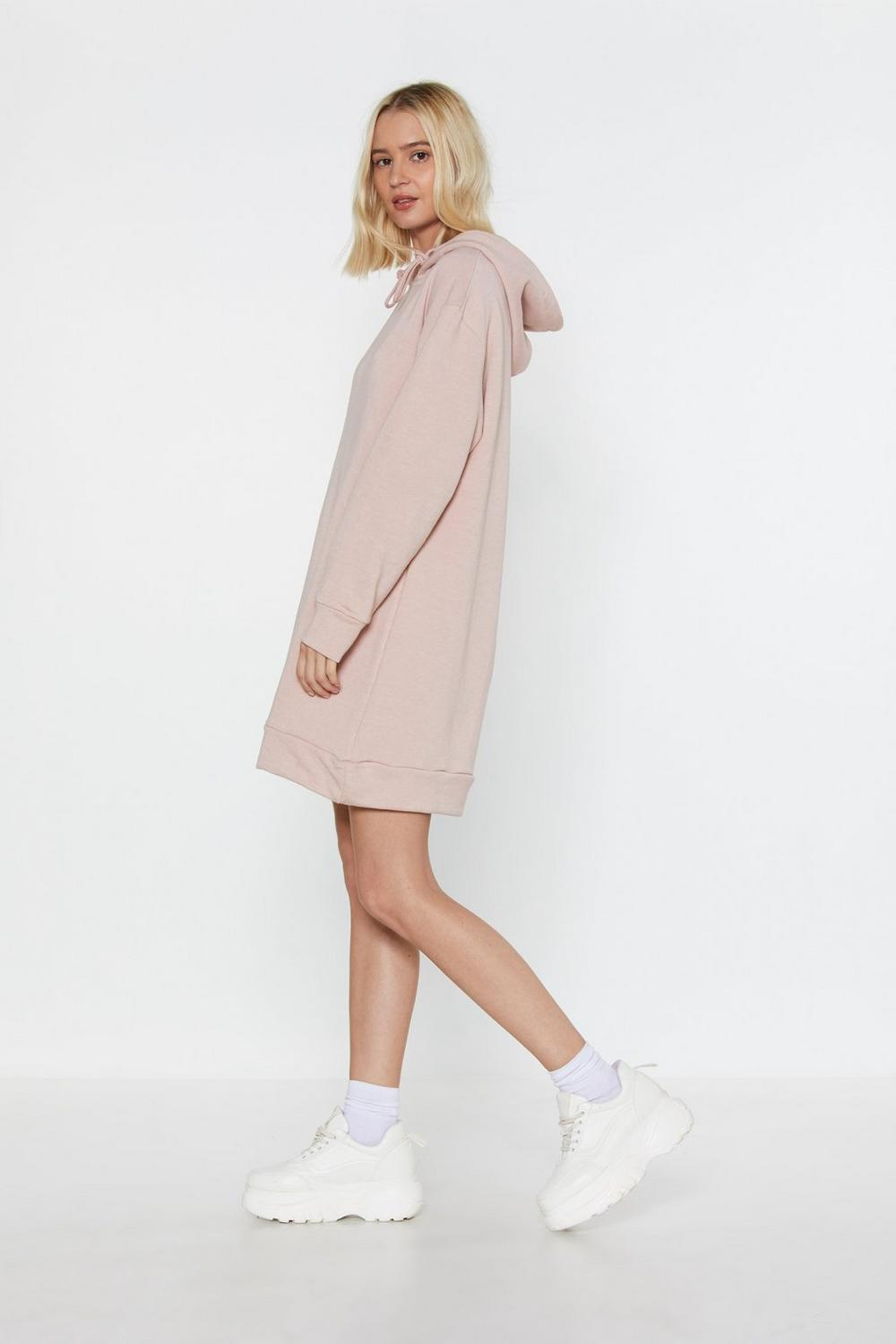 6f61fb02cd8d Womens Dusky pink Take It Slow Oversized Hooded Dress. Hover to zoom