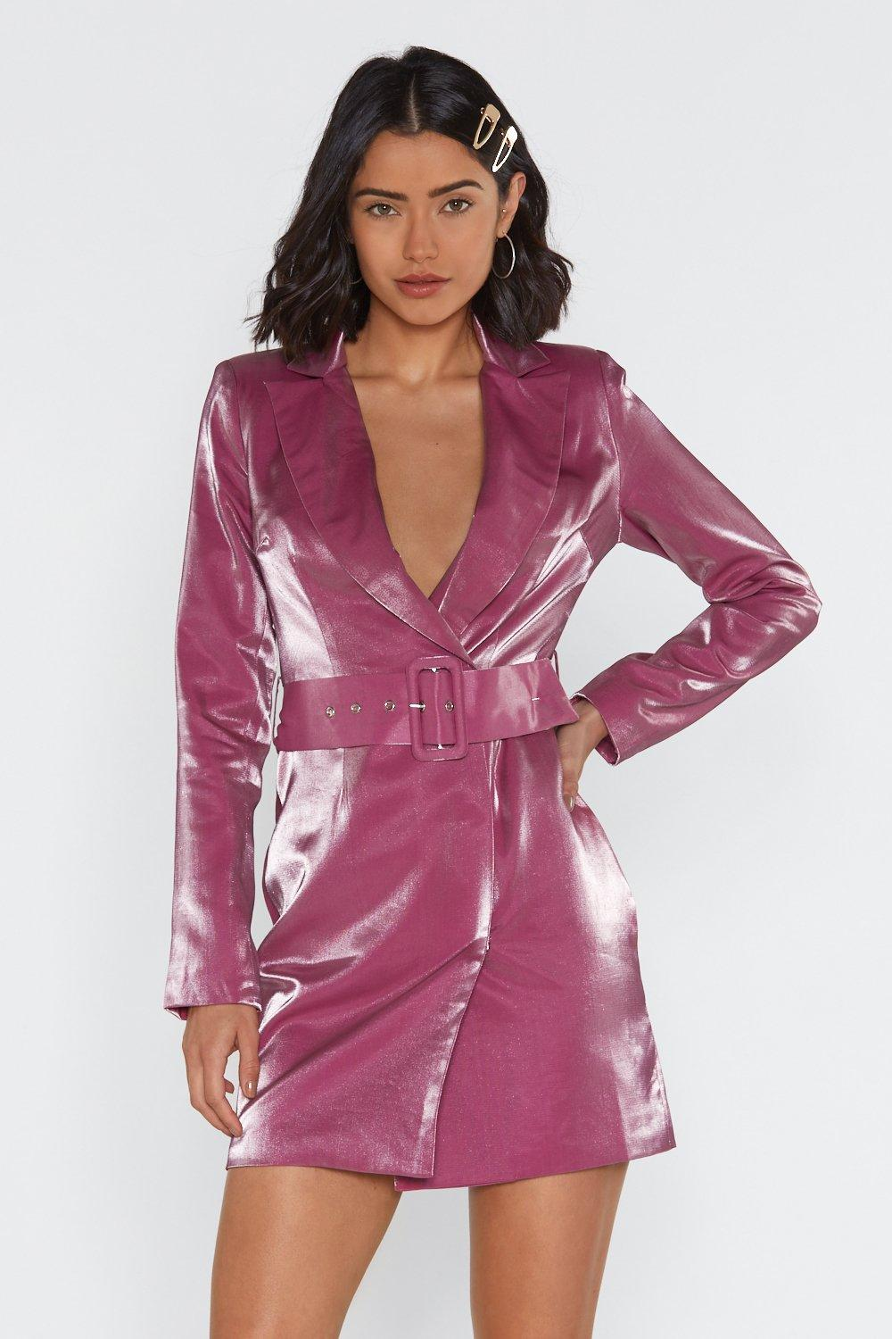 2afc5669460a Shiny a River Belted Blazer Dress | Shop Clothes at Nasty Gal!